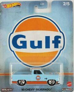 Hot Wheels - 83 Chevy Silverado Azul - Gulf - Fuel