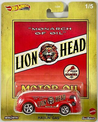 Hot Wheels - 1937 Haulin Gas Vermelho - Lion Head - Fuel