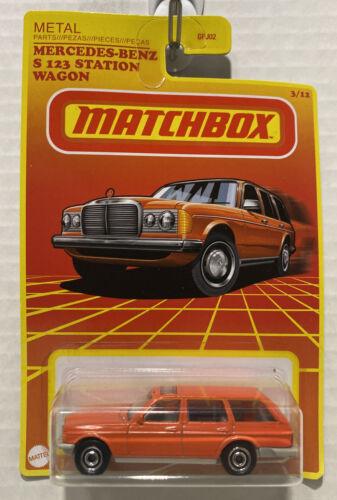 Matchbox - Mercedes-Benz S123 Station Wagon Laranja - Retro Series - Exclusivo Target
