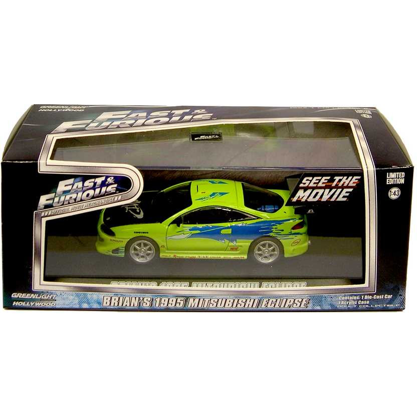 Greenlight Hollywood - Brian's 1995 Mitsubishi Eclipse - Fast and Furious - Escala 1:43