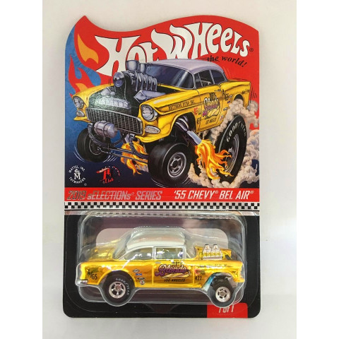 Hot Wheels - 55 Chevy Bel Air Dourado - Real Rides 2019 Selections Series