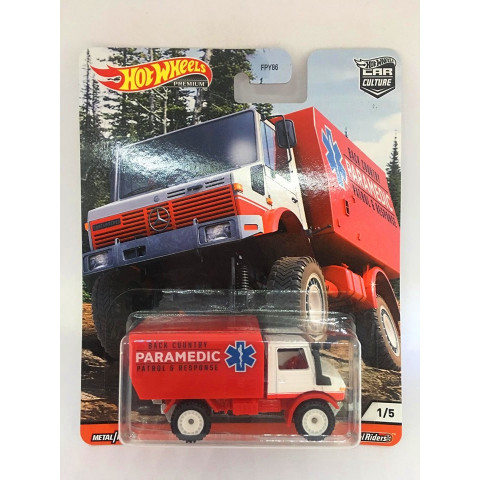 Hot Wheels - 88 Mercedes Unimog U1300 - Wild Terrain - Car Culture