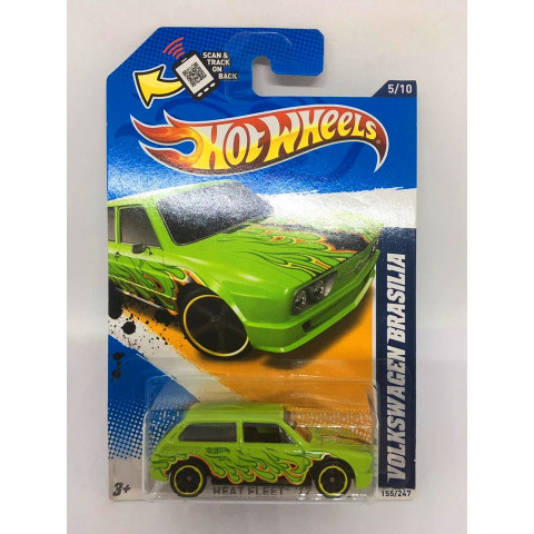 Hot Wheels - Volkswagen Brasilia Verde ( Variação com Hot Wheels no Parabrisa ) - Mainline 2012