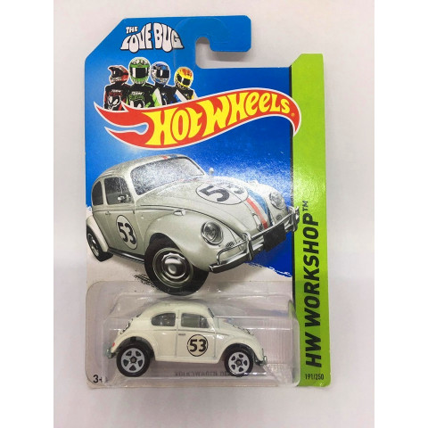 Hot Wheels - Volkswagen Beetle Herbie Branco - Mainline 2014