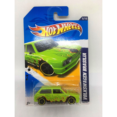 Hot Wheels - Volkswagen Brasilia Verde - Mainline 2012