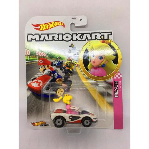 Hot Wheels - Peach P-Wing Branco/Rosa - Mario Kart