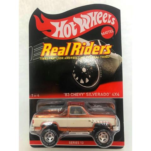 Hot Wheels - 83 Chevy Silverado Laranja - Real Riders