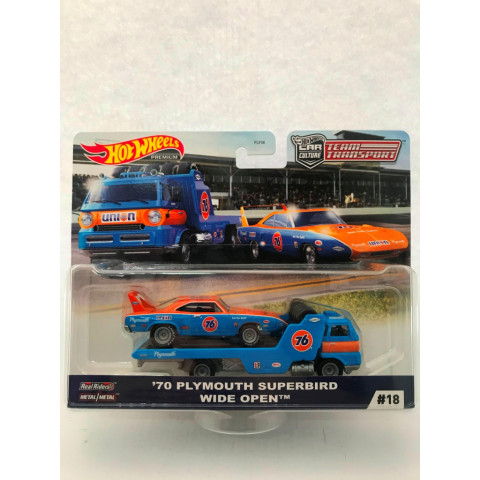 Hot Wheels - 70 Plymouth Superbird Wide Open - Team Transporte