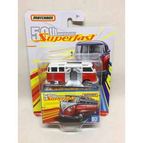 Matchbox - 59 Volkswagen 23 Microbus Vermelho - Superfast 50th Anniversary