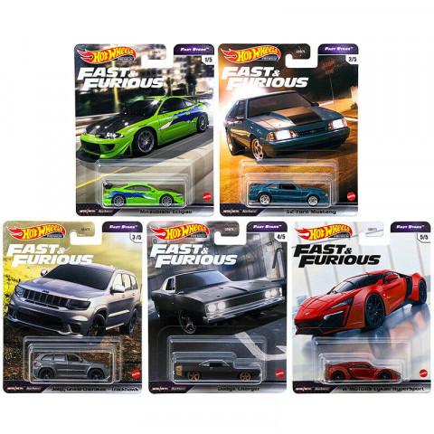 Hot Wheels - Set Fast Stars 2021 Completo 5 Miniaturas - Fast and Furious - Velozes e Furiosos