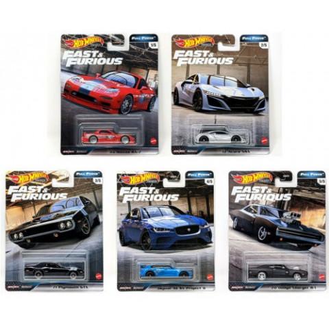 Hot Wheels - Set Full Force 2020 Completo 5 Miniaturas - Fast and Furious - Velozes e Furiosos