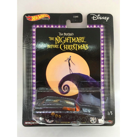 Hot Wheels - 59 Cadillac Funny Car Preto - Tim Burtons The Nightmare Before Christmas - Disney 2020