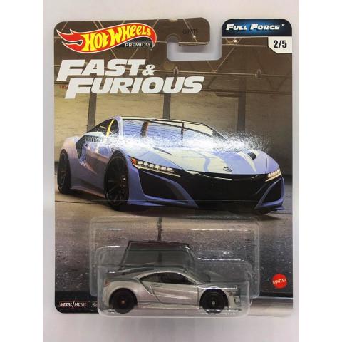 Hot Wheels - 17 Acura NSX Cinza - Full Force - Fast e Furious - Velozes e Furiosos