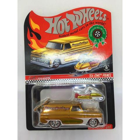 Hot Wheels - 64 Gmc Panel Dourado - Red Line Club - Happy Holliday
