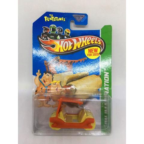 Hot Wheels - The Flintstones Flintmobile Laranja - Mainline 2013