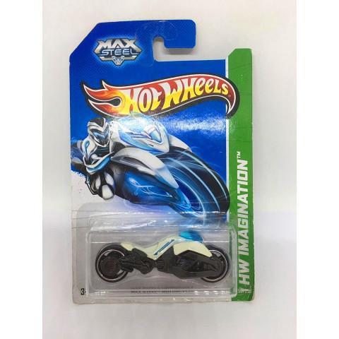 Hot Wheels - Max Steel Motorcycle Branca - Mainline 2013