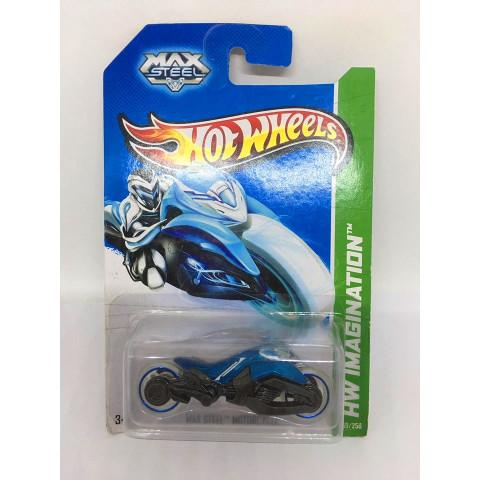 Hot Wheels - Max Steel Motorcycle Azul - Mainline 2013