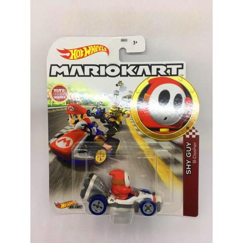 Hot Wheels - Shy Guy - B-Dasher Branco/Vermelho - Mario Kart