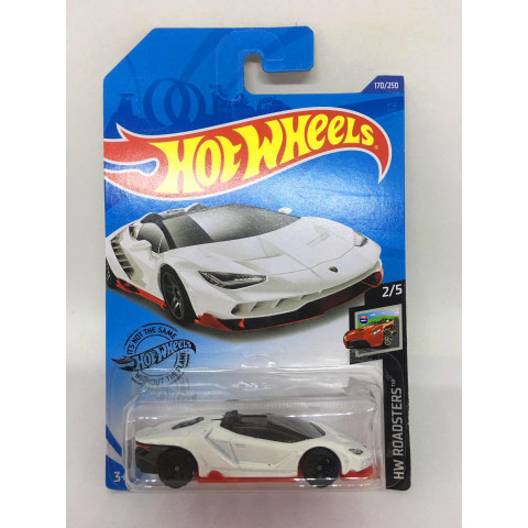 Hot Wheels - 16 Lamborghini Centenario Roadster Branco - Mainline 2020