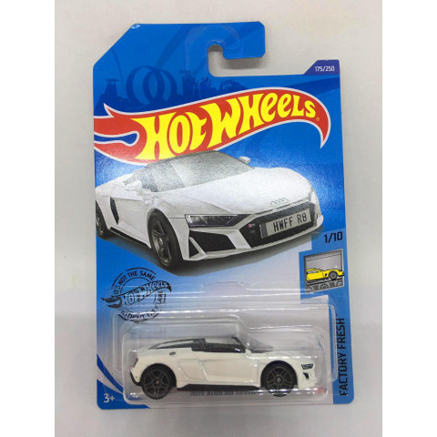Hot Wheels - 2019 Audi R8 Spyder Branco - Mainline 2020
