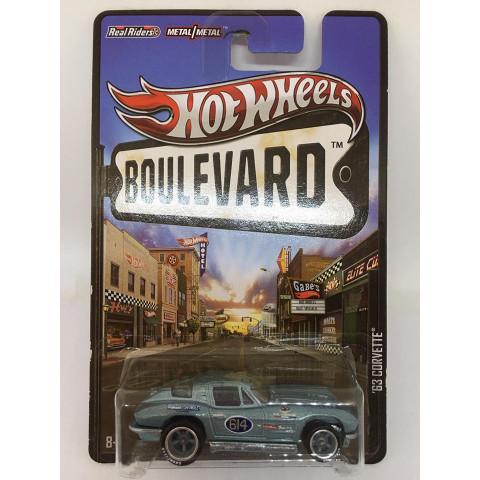 Hot Wheels - 63 Corvette Azul - Boulevard