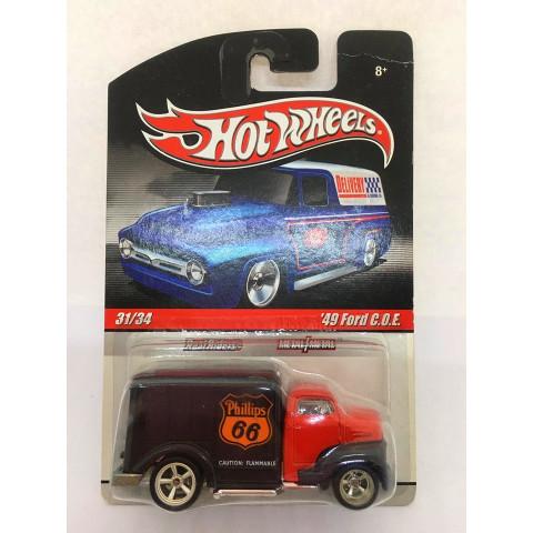 Hot Wheels - 49 Ford C.O.E Preto/Vermelho - Série Delivery