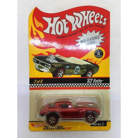 Hot Wheels - 63 Vette Vermelho - Neo-Classics Series
