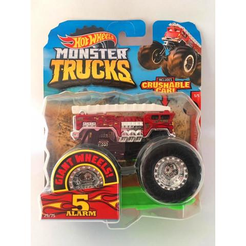Hot Wheels - 5 Alarm Vermelho - Giant Wheels - Monster Trucks