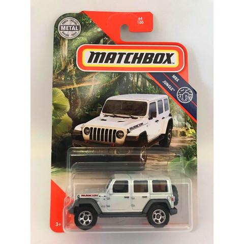 Matchbox - 2018 Jeep Wrangler Jl Branco - Mbx Jungle 2020