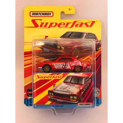 Matchbox - 1971 Nissan Skyline 2000 Gtx Vermelho - Superfast