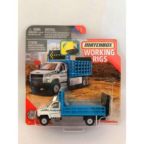 Matchbox - Gmc 3500 Attenuator Truck Branco/Azul - Working Rigs 2020