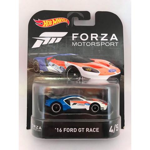 Hot Wheels - 16 Ford Gt Race Branco - Forza Motorsport