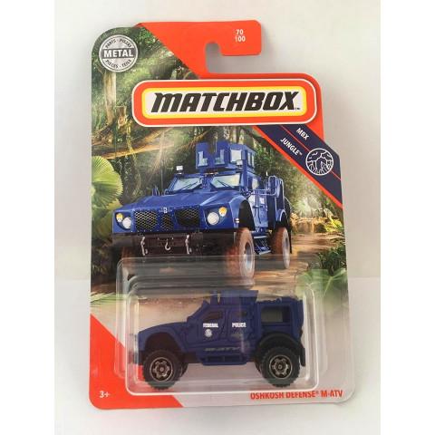 Matchbox - Oshkosh Defense M-Atv Azul - Mbx Jungle 2020