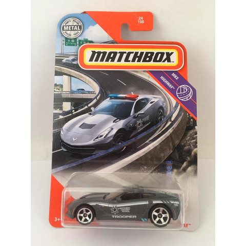 Matchbox - 2015 Corvette Stingray Cinza - Mbx Highway 2020