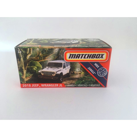 Matchbox - 2018 Jeep Wrangler Jl Branco - Power Grabs - Básico 2020