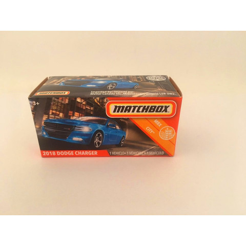 Matchbox - 2018 Dodge Charger Azul - Power Grabs - Básico 2020