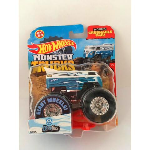 Hot Wheels - Drag Bus Branco - Giant Wheels - Monster Trucks
