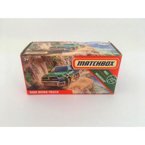 Matchbox - Ram Work Truck Verde - Power Grabs - Básico 2020