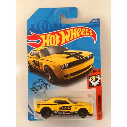 Hot Wheels - 18 Dodge Challenger Srt Demon Amarelo - Mainline 2020
