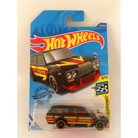 Hot Wheels - Datsun Bluebird Wagon (510) Preto  - Mainline 2020