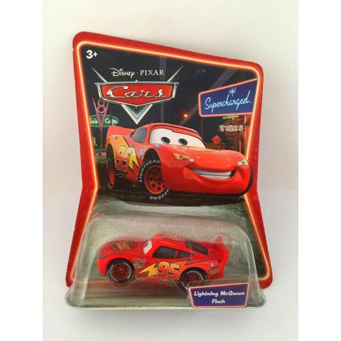Disney Cars - Lightning McQueen Flash Vermelho - Supercharged