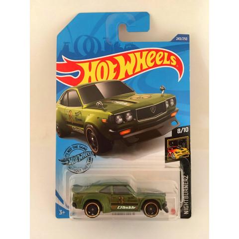 Hot Wheels - Mazda Rx-3 Verde - Mainline 2020