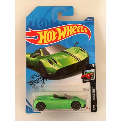 Hot Wheels - 17 Pagani Huayra Roadster Verde - Mainline 2020