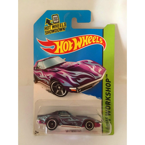 Hot Wheels - 69 Corvette Roxo - Thunt Super 2014