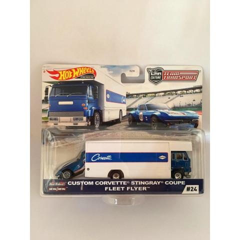 Hot Wheels - Custom Corvette Stingray Coupe Fleet Flyer - Team Transport