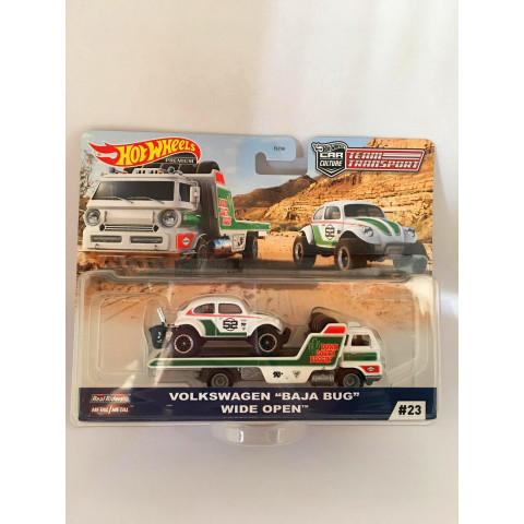 """Hot Wheels - Volkswagen """"Baja Bug""""  Wide Open - Team Transport"""