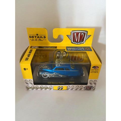 M2 Machines - 1949 Mercury Custom Azul - Moon - Walmart Exclusivo
