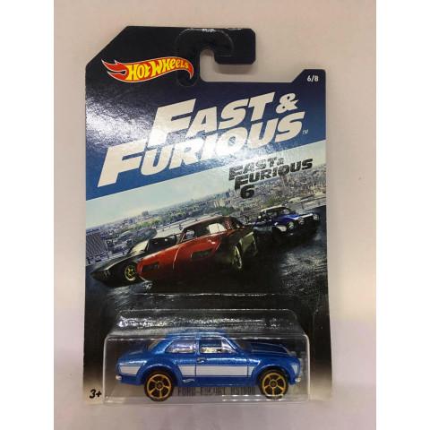 Hot Wheels - 70 Ford Escort Rs1600 Azul - Fast Furious 6