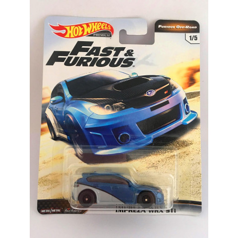 Hot Wheels - Impreza Wrx Sti Azul - Furious Off-Road - Fast e Furious - Velozes e Furiosos