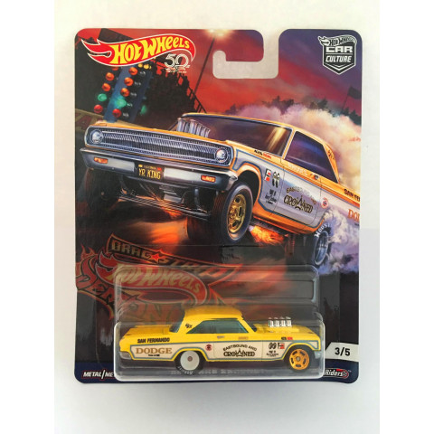 Hot Wheels - 65 Dodge Coronet Amarelo - Car Culture - Drag Strip Demons